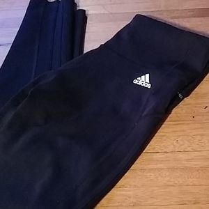 Adidas size medium jet black climalite leggings